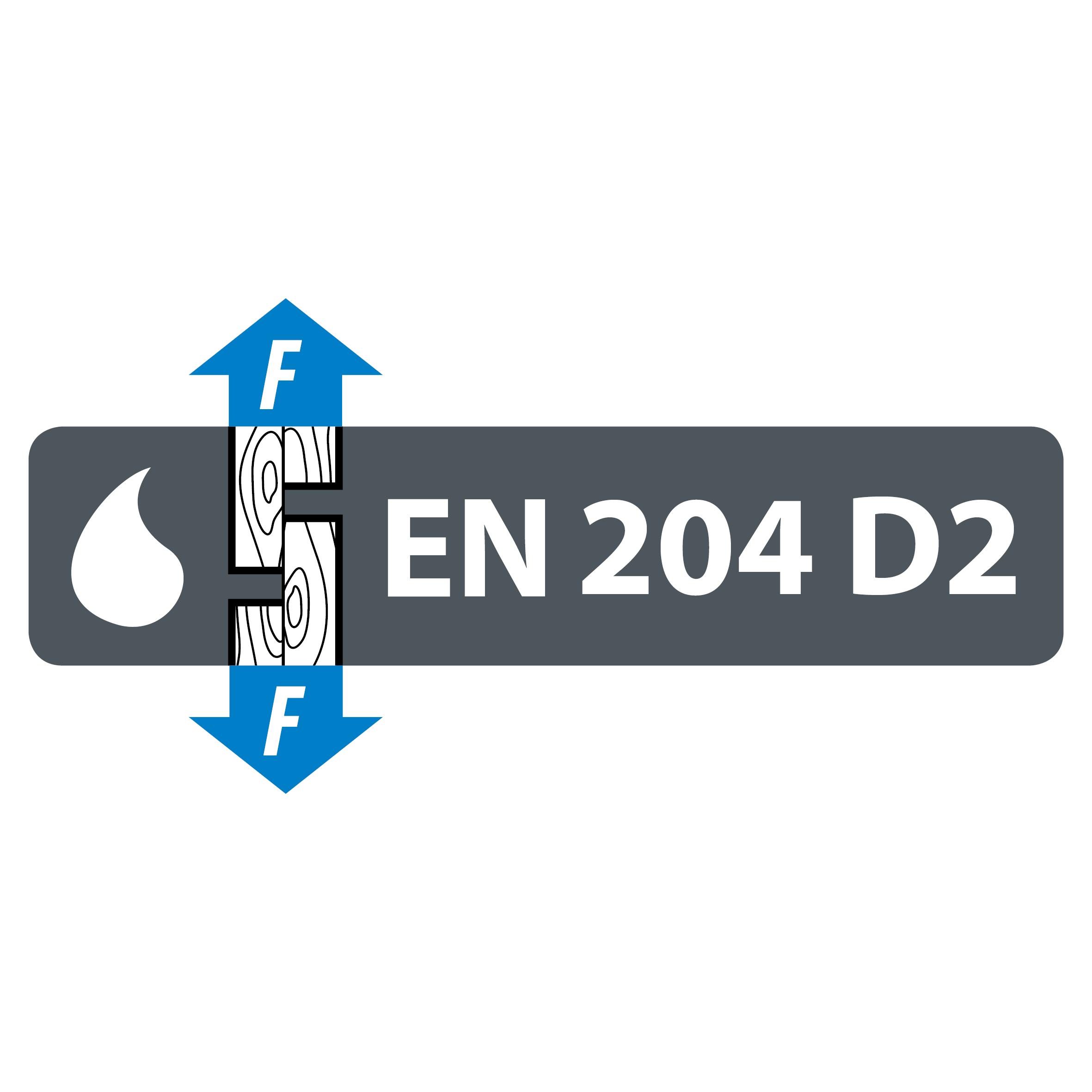 EN 204 D2 veekindluse klassifikatsioon