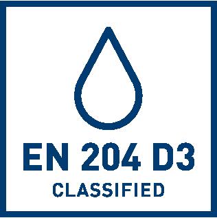 EN 204 D3 veekindluse klassifikatsioon